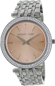 Michael Kors Darci Women's Peach Dial Stainless Steel Band Watch - MK