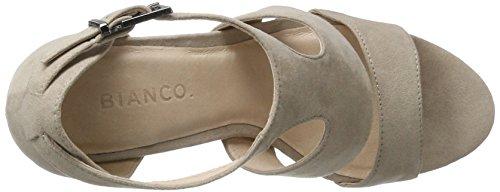 Bianco Damen Double Strap Sandal 20-49201 Plateausandalen Braun (Nougat)