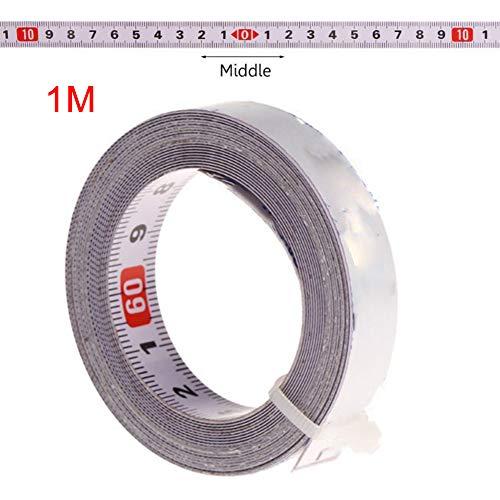 LYCOS3 Selbstklebendes Maßband, metrisches Maßband, 13 mm Schiene, selbstklebendes Gehrungslineal für Holzbearbeitung, metrisches Fräswerkzeug, Maßband für Arbeitsplatten, Wie abgebildet, medium score