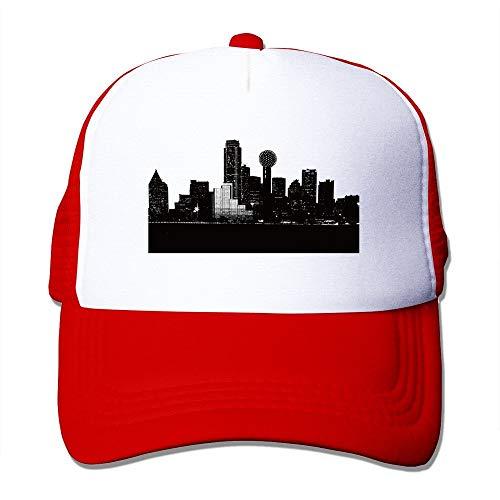 mfsore Dallas City Skylie Silhouette Mesh Unisex Adult-One Größe Snapback Trucker Mützen