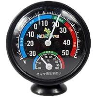 perfk Termohigrómetro Metero Monitoreo de Indicador de Temperatura Humedad Complimentos Duradero Cómodo