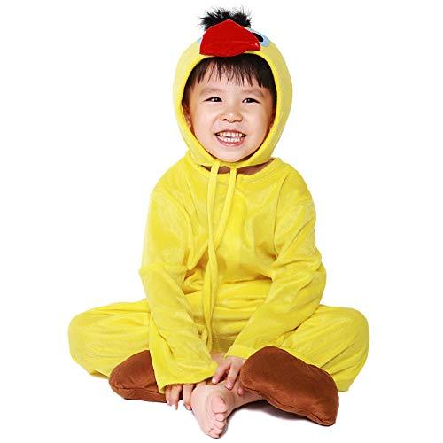 XYL Kleid Verkleidung Kleid Partei/Partei Kostüm Outfit/Geburtstag Child Cosplay Leistungskleidung Mädchen Tiere Küken Kostüme@L Höhe 120-130 cm (Mädchen Küken Kostüm)