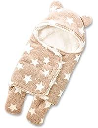 HOYMN Gigoteuse d'emmaillotage avec Pieds Séparé en Polyester Chaud Hiver Pour Bébé Fille Garçon Nouveau-né 0-1ans