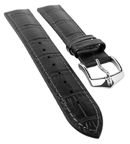 mance Uhrenarmband Modell Paul 20 mm Schwarz ()