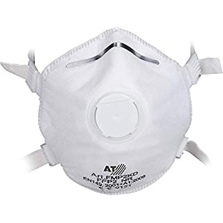 Asatex Disposable Respirator Masks – Tested FFP2 Fine Dust Mask – Dust Mask with Exhalation Valve and All-Round Sealing Lip