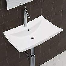 vidaxl luxueuse vasque cramique rectangulaire avec trop plein
