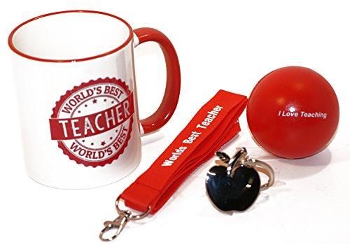 11. oz World 's Best Teacher Kaffeetasse Geschenk Pack