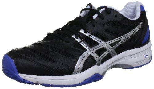 ASICS GEL-SOLUTION SLAM Tennis Scarpe Da Terra Battuta, Nero (Black/Lightning/Royal Blue), 40 (6.5 UK)