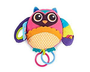 Oops Little Helper 20 x 24cm Multi Textured and Sensory Soft Activity Toy in Adorable and Vibrant Owl Design (Large)