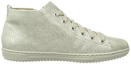 Rieker L9446, Sneakers Hautes Femme Gris (grey/ice/lightgold/ice / 40)