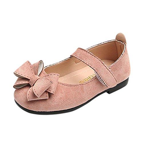 Wawer Baby-Bowknot-Sandelholz-Turnschuh-Kleinkind-Kinder-Feste zufällige Einzelne Schuhe (29, Rosa) (Kd Schuhe Baby)