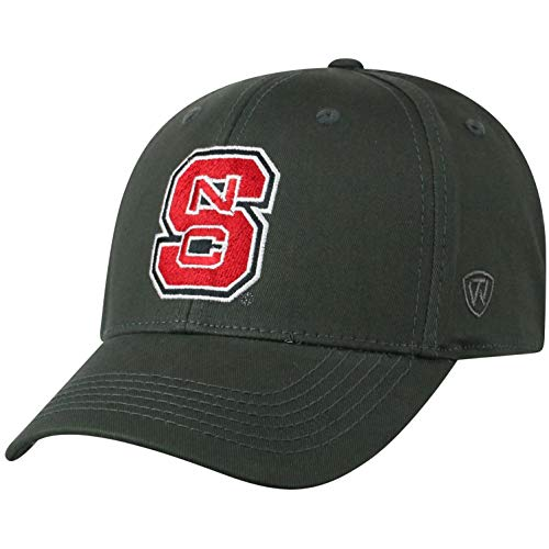 Top of the World Herren Mütze NCAA Fitted Charcoal Icon, Herren, NCAA Men's Fitted Hat Relaxed Fit Charcoal Icon, North Carolina State Wolfpack Charcoal, Einstellbar