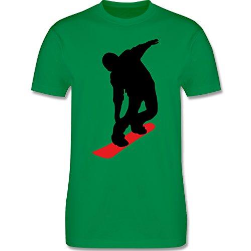 Wintersport - Snowboard Brettl - Herren Premium T-Shirt Grün