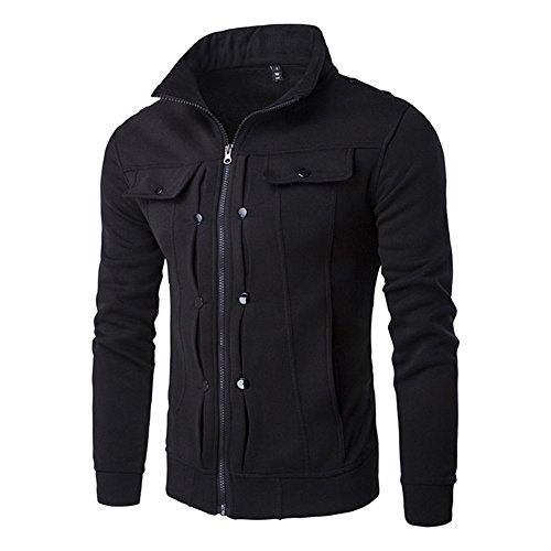Juleya Hommes Casual Jacke Manteau - Hommes Automne Hiver Veste À Manches Longues Manteau De Mode Blouson Zipper Outwear Chaud Paka XS-XXL