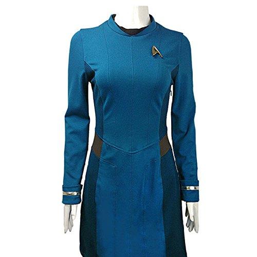 r Trek 3 Beyond Star Cosplay Kostüm mit Abzeichen,Blue-L ()