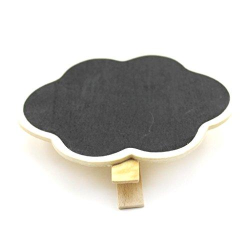 HuaYang DIY Mini tableau noir du bureau message étiquettes à clip(nuage)