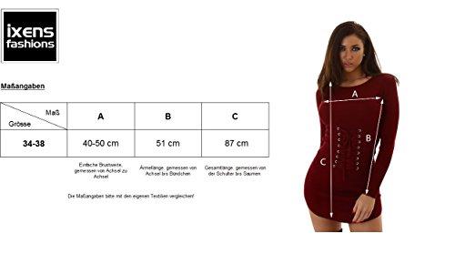 MC LORENE Damen Kleid, ein Strickkleid in Feinripp Optik, Langarm mit Rundhals 34-38 Hellbraun