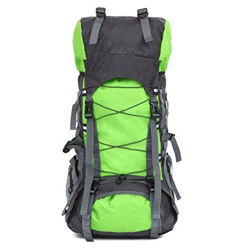 Große Reise Wandern Camping Hochleistungs Rucksack Rucksack Urlaub Gepäck Tasche,Black Fruitgreen