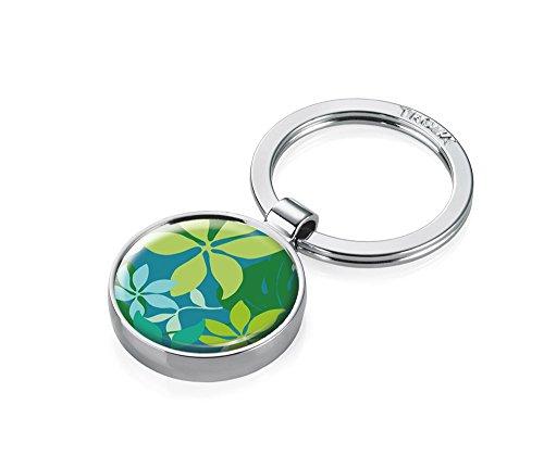 TROIKA Shopping SCHLÜSSELHALTER - #KYR14-A62 - mit Einkaufswagen-Chip - Motiv: Green Jungle - rund, glänzend - Schlüsselanhänger mit Chip für Einkaufswagen - das Original von TROIKA Queen-anne-chip