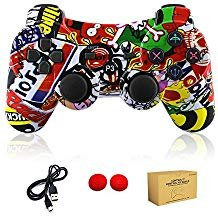 ler Wireless Bluetooth Double Shock Sixaxis Remote Gamepad für Sony PS3 Playstation (Graffiti) ()