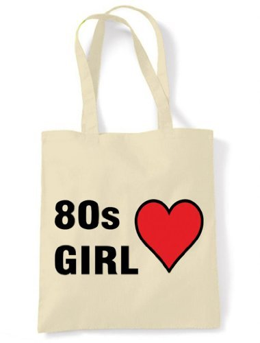 80s Girl Eco Friendly Tote Bag - Cream or Yellow