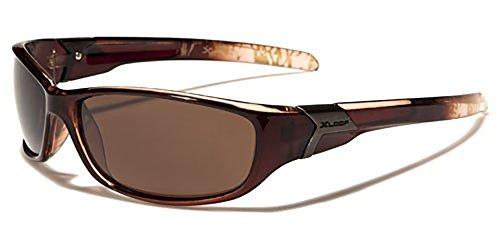 X-Loop polarisierte Radfahren & Sportliche Sonnenbrille für Erwachsene-Einzigartige Größe-UV400Schutz-Running/Skifahren/Snowboarden/Angeln/Radfahren (Bronze)
