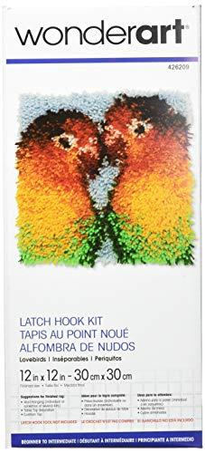 Wonderart Latch Hook Kit - Lovebirds 12
