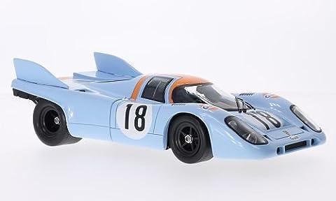 Porsche 917K, RHD, No.18, Gulf, Le Mans, Training, 1971, Modellauto, Fertigmodell, Norev 1:18