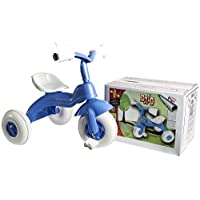 BRIO KIDS TRIKE BIKE CHILDRENS 3 WHEEL PEDAL SCOOTER TRICYCLE RIDE ON TOY XMAS GIFT (BLUE WHITE BOYS)