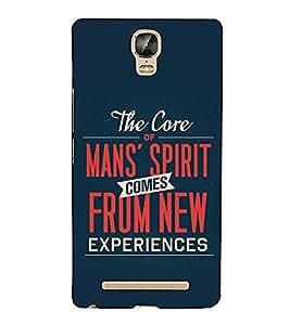 Fuson Designer Back Case Cover for Gionee Marathon M5 Plus (The Core Of Mans Spirit)