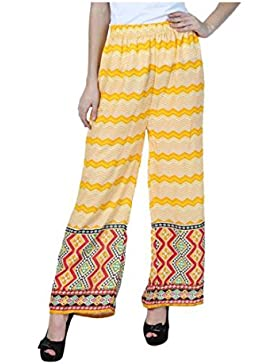 Indian Handicrfats Export Jollify Flared Women Yellow Trousers