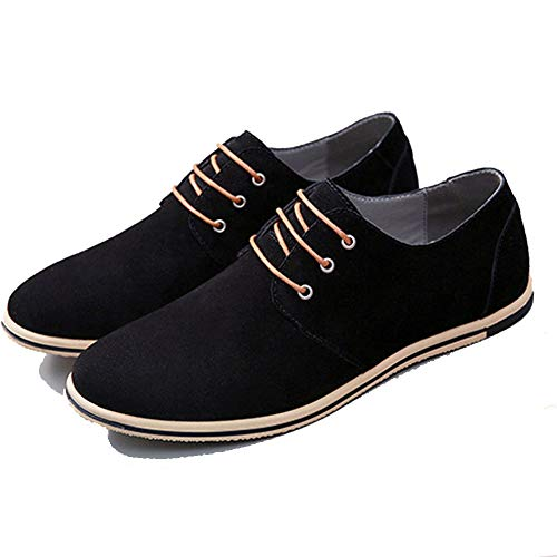 Herren Oxford Schuhe mit bequemer gemischter Flacher Unterseite und Spitzen rutschfesten Freizeit Schuhen für Herren (Izod-uniformen)