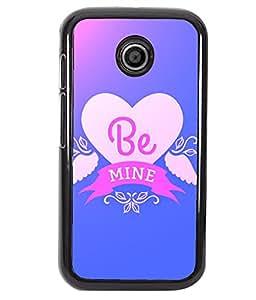 Fuson 2D Printed Love Designer back case cover for Motorola Moto E - D4530