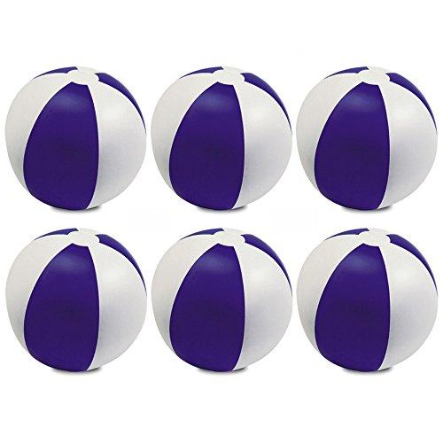 aufblasbar Farbe beach Ball Spiel, lila, 9Zoll (Rote Und Weiße Beach-ball)