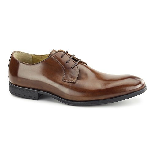Scarpe Da Uomo Steptronic Faro Dk Brown Basse In Medium Cognac