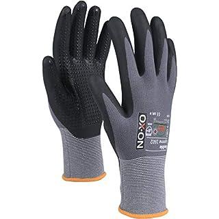 OX-ON Gants de Travail Souples Nopperl en Nitrile avec Picots Taille 6-11