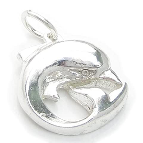 charm Anhänger Delfin sterling-Silber 925, Delfin-charms EC1665