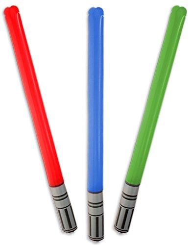 diverse 12 x aufblasbare Lichtschwerter 85cm lang Schwert Karneval Fasching Party Laser