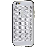 iShield® 6 Light Luxury Cases with Crystals from Swarovski® for iPhone 6/6S - Case Type: iShield® 6 Light Case Riches (Silver Satin Matte)