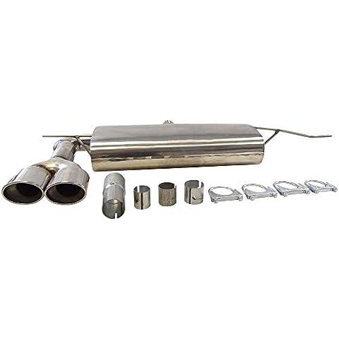 Supersport–Silenziatore tubo di scappamento adatto VW Golf 53porte, 5porte, tipo (en) 1K, GTI 2.0FSI Turbo (Otto 147Kw) 76mm aria (3Zoll.), Bj. 10/03, trazione anteriore