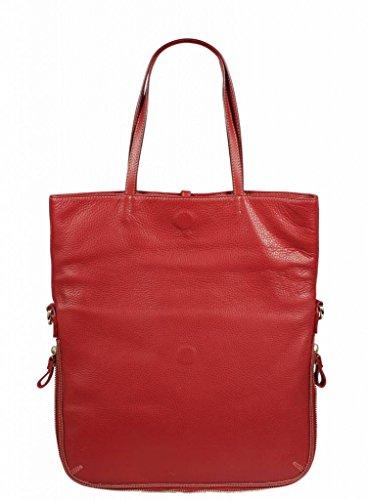 Schöne praktische leder Luana Arancione über die Schulter Rot