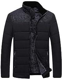 guanti goodbenemall Giacche Invernali da Uomo Stand Colletto Caldo in Pile  Slim Fit Zipper Coat Parka ae9e5dd6588