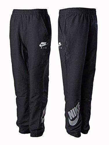 Nike Herren Schwarz Nylon Elastisch Jogginghose Fitnessstudio Jogging Training Hose - Schwarz, Herren, Large -