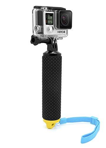 MyGadget Schwimmender Action Kamera Handler Stick - Rutschfester Handgriff Monopod Wasser Zubehör für z.B. GoPro Hero 6 5 4 3+ 3, Xiaomi Yi 4K - Gelb