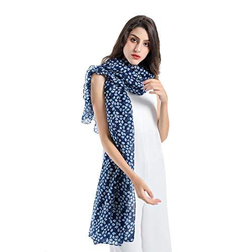 TaoRan Baumwolle und Leinen Schal Damen Sommer Sonnencreme Freizeit heiß Pastoral Wind Europa und Amerika Straßenlaterne Baumwolle Leinen Schal - blau_180cm Knit Wind Jacke