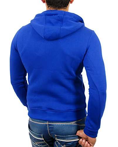 Reslad Herren Kapuzenpullover Sweatjacke Jacke Chicago RS-1002 Blau
