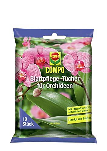 COMPO Blattpflege-Tücher für Orchideen, 10 Stück, Weiß