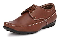 John Karsun Mens Brown Derby Shoes - 6 UK