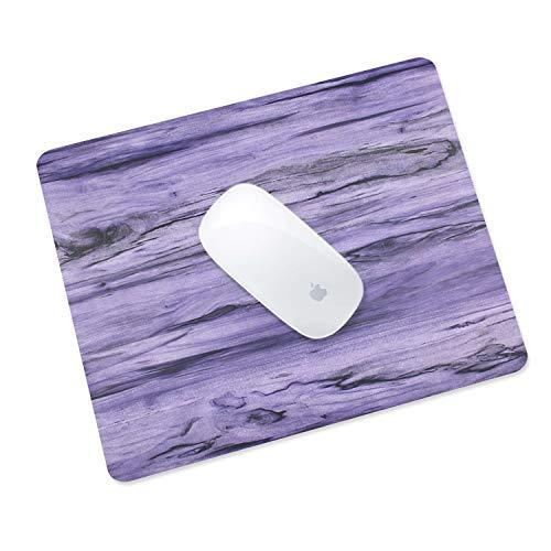 Masino Premium PU Leder Mauspad Wasserdicht Anti-Rutsch Schreibtisch Mauspad für Apple Magic Mouse Microsoft Surface Mouse Laptop Wired Wireless Bluetooth Mouse 1 pcs Wood Cloud- Purple (Wired Computer Maus Apple)
