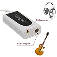 fghdfdhfdgjhh Adaptador convertidor Flanger FC-21 para teléfonos móviles Conector de interfaz móvil Guitar Bass to Smartphone Converter